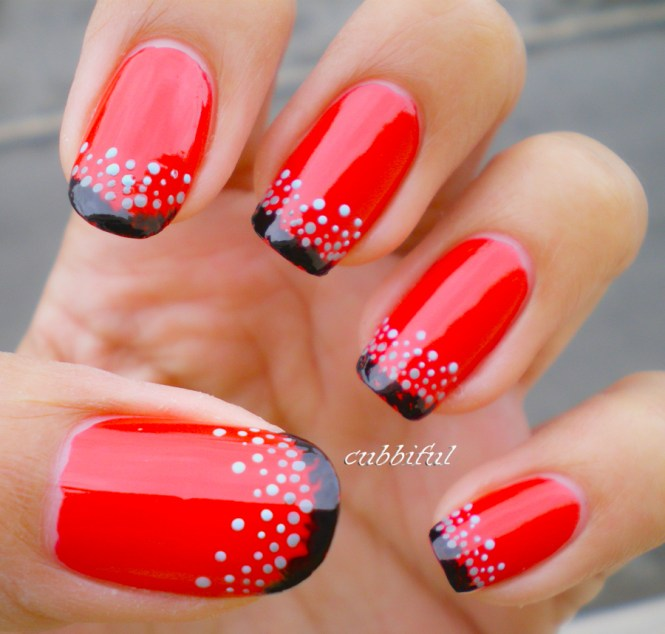 Black Nail Art Designs And Ideas 55