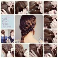Dutch Braid Updo Hairstyles For Medium Long Hair Tutorial ...