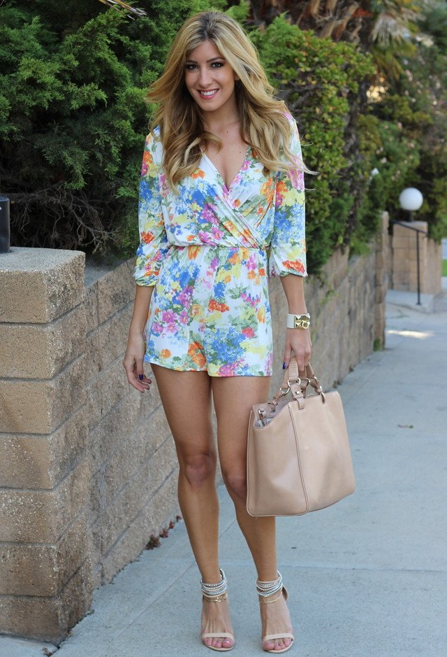 Stylish Floral Jumpsuit Outfit
