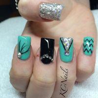 15 Teal Nail Designs - Pretty Designs