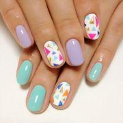 super cute pastel nail design