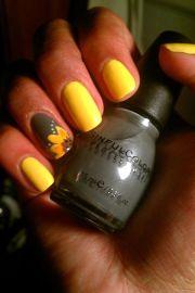 sunflower nail design
