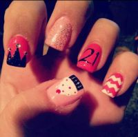Birthday Themed Nail Arts - Pretty Designs