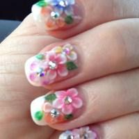 3D Flower Nail Designs - Pretty Designs