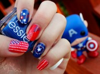 15 Interesting American Flag Inspired Nail Designs ...
