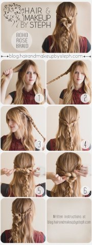 pretty boho style braids tutorials