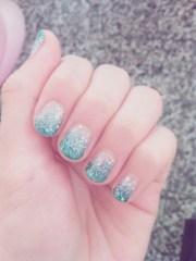 nail art blue design