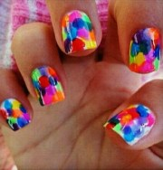 colorful nails summer