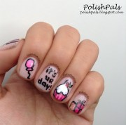 birthday themed nail arts - pretty