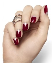 amazing burgundy nail design