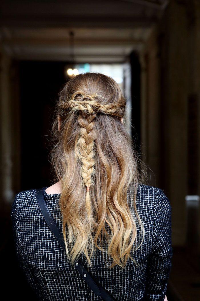 Hairstyles for Everyday Half Updo Braid Hair  Pretty Designs