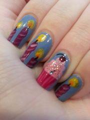 birthday themed nail arts - pretty