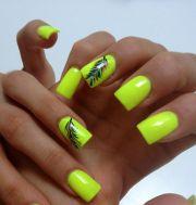 unique neon nail design