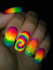 rainbow nail design won t