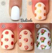 rose nail tutorials love
