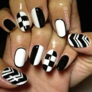 black and white nails beginners