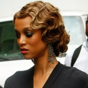 girl style vintage curly hairstyles