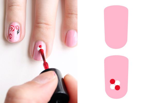 Manicure Monday Easy Rose Nail Art Tutorial See The World In Pink View Images