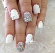 latest glitter nail design - pretty