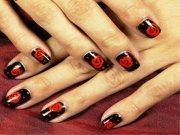 beautiful rose nail art design