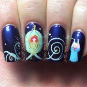 lovely cartoon themed nails