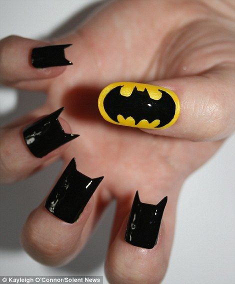 Cool Batman Nail Art Design