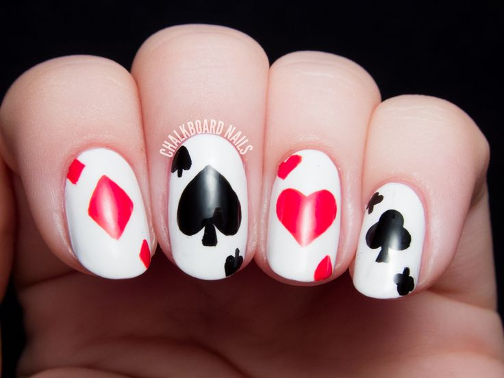 12 Interesting Card Nail Designs  Pretty Designs