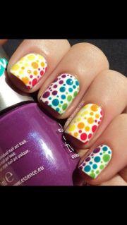 amazing rainbow nail art design
