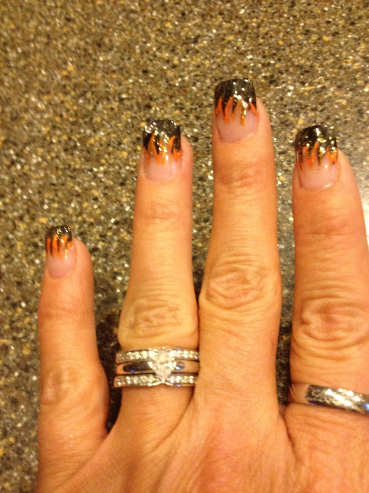 13 Ultra Cool Harley Davidson Nail Designs  Pretty Designs