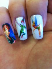lovely cartoon themed nails