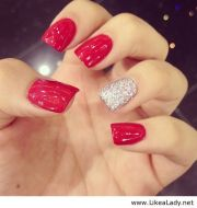 bloody hot red nails women