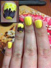 fabulous yellow nail art design