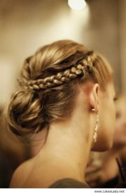 pretty braided crown hairstyle