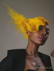 interesting yellow hairstyles