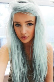 great blue hairstyles - pretty