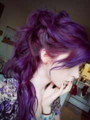 glamorous purple hairstyles