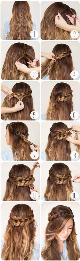 12 Pretty Braided Crown Hairstyle Tutorials and Ideas