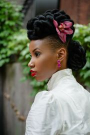 hottest black updo hairstyles