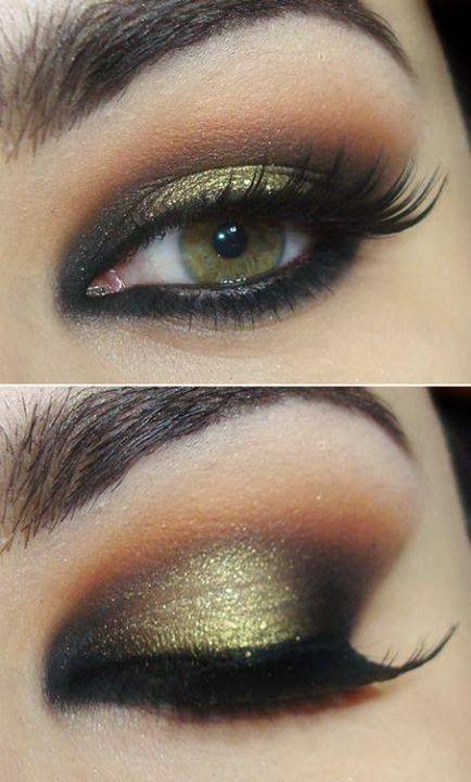 10 Gold Smoky Eye Tutorials for Fall  Pretty Designs