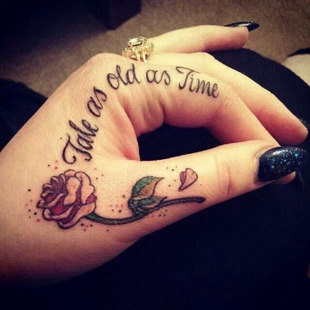 Simple Small Rose Tattoo On Hand