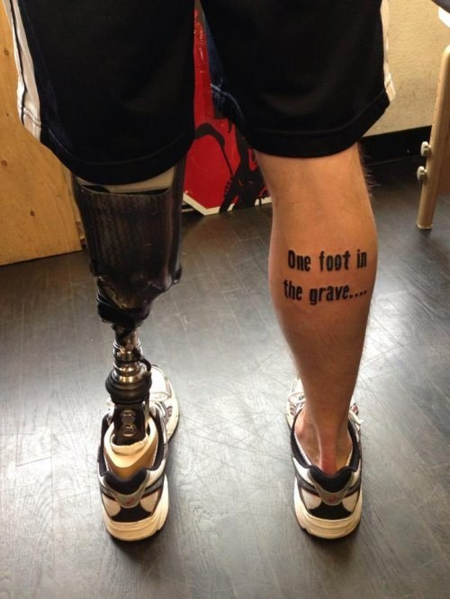clever and funny tattoo design