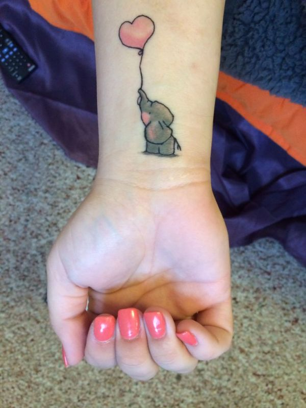 elephant tattoo design
