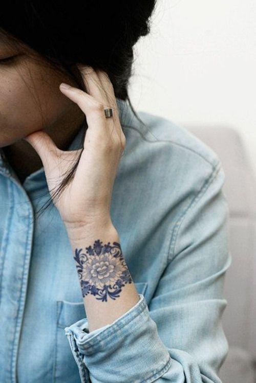 Flower Tattoo Designs On Wrist