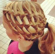 stunning waterfall french braids
