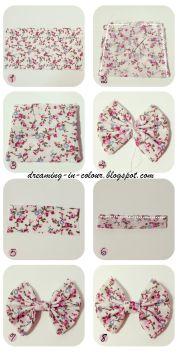 floral hair bow - pretty design