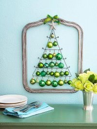 Decorative Wall Christmas Tree Idea - Pretty Designs