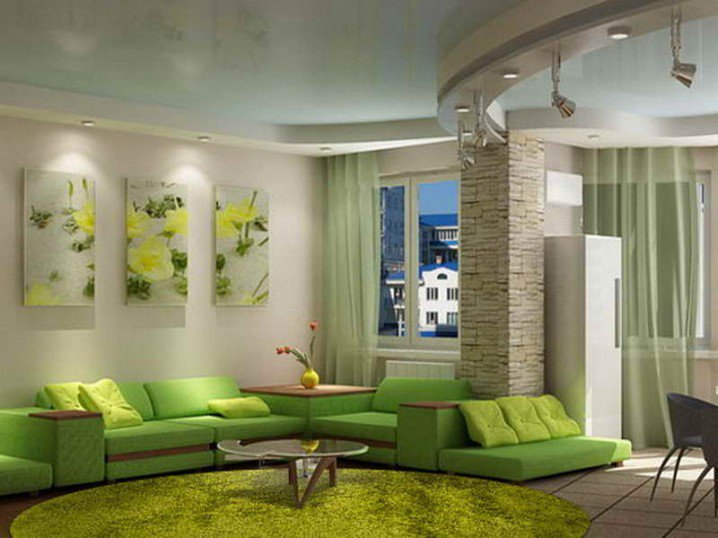 Home Decorating Green Walls Of Living Room Pretty Designs