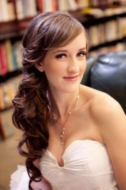 gorgeous bridal hair with bangs