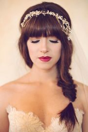 gorgeous bridal hair with bangs