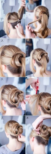 easy step updo hairstyles